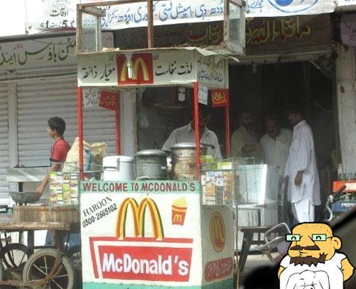 La Foto: Mcdonald en la India