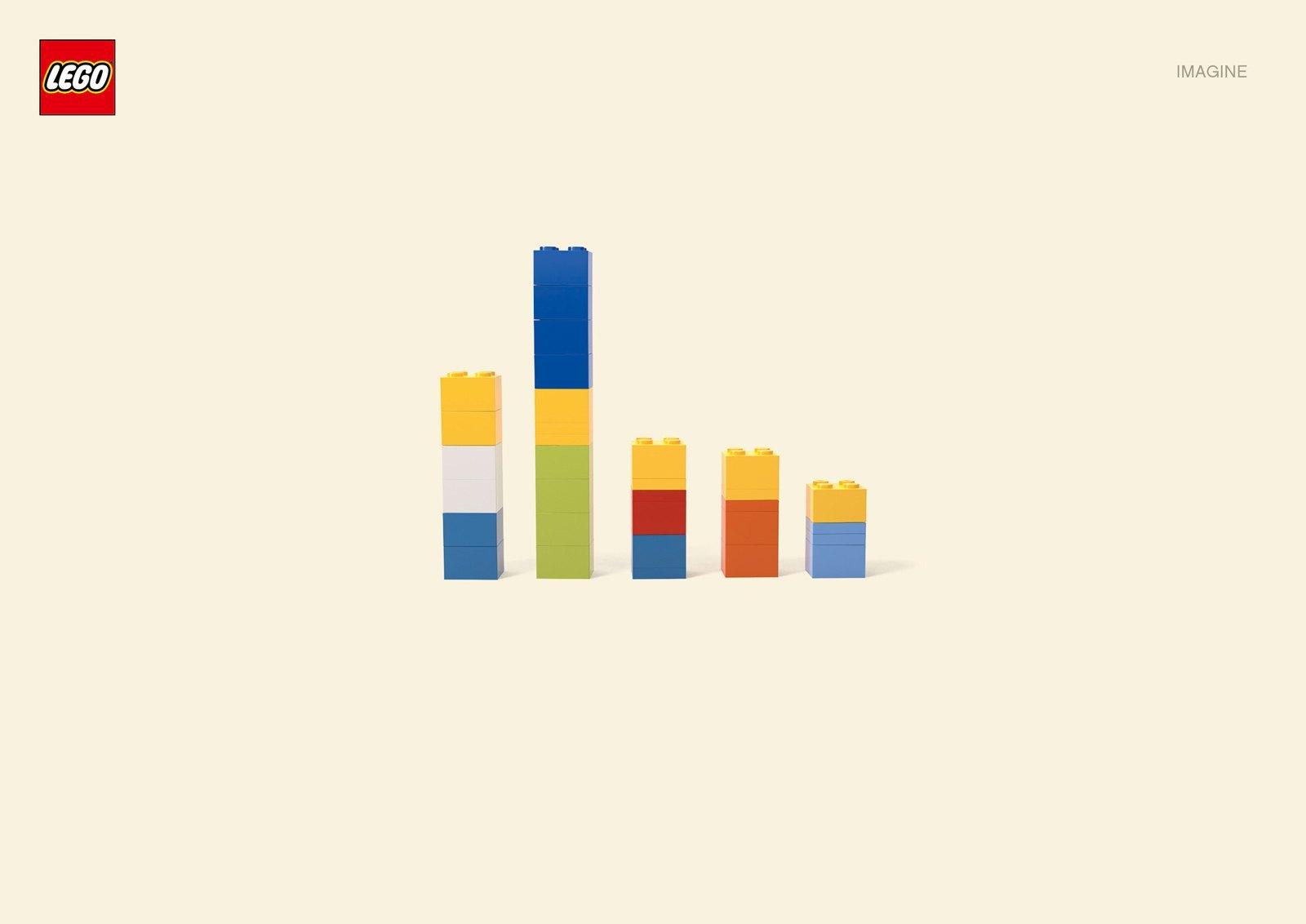 Figuras Lego minimalistas de personajes de TV